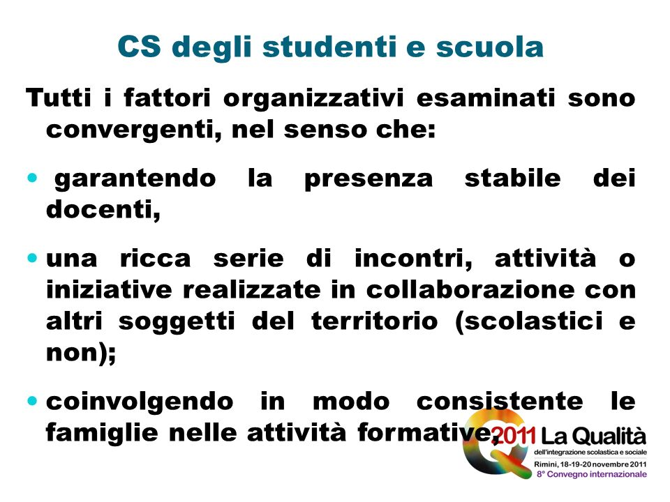 CS degli studenti e scuola