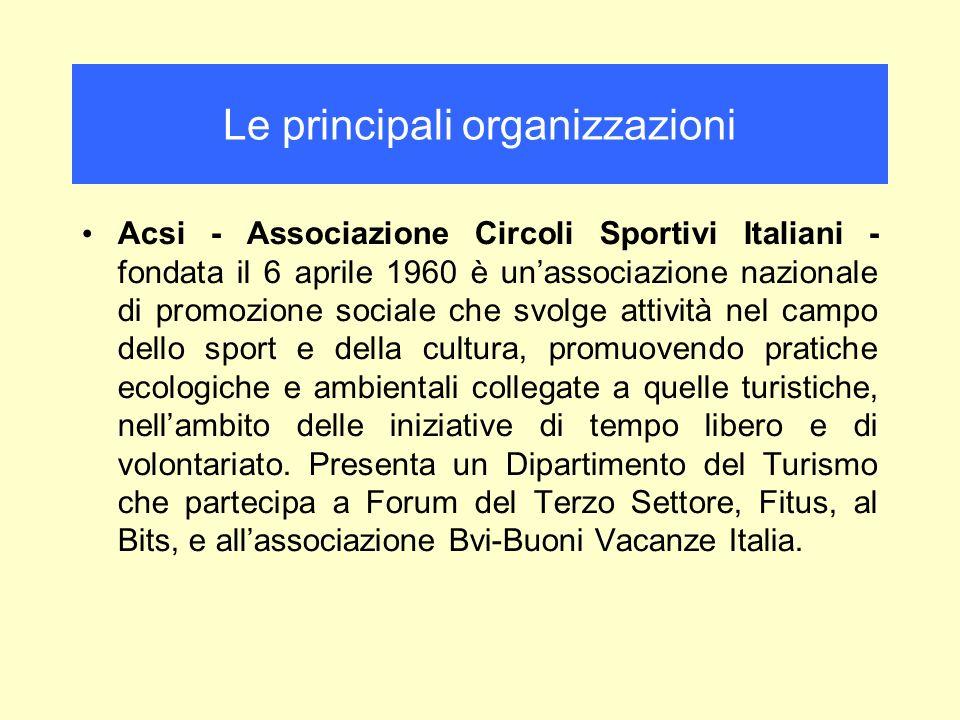 Le principali organizzazioni
