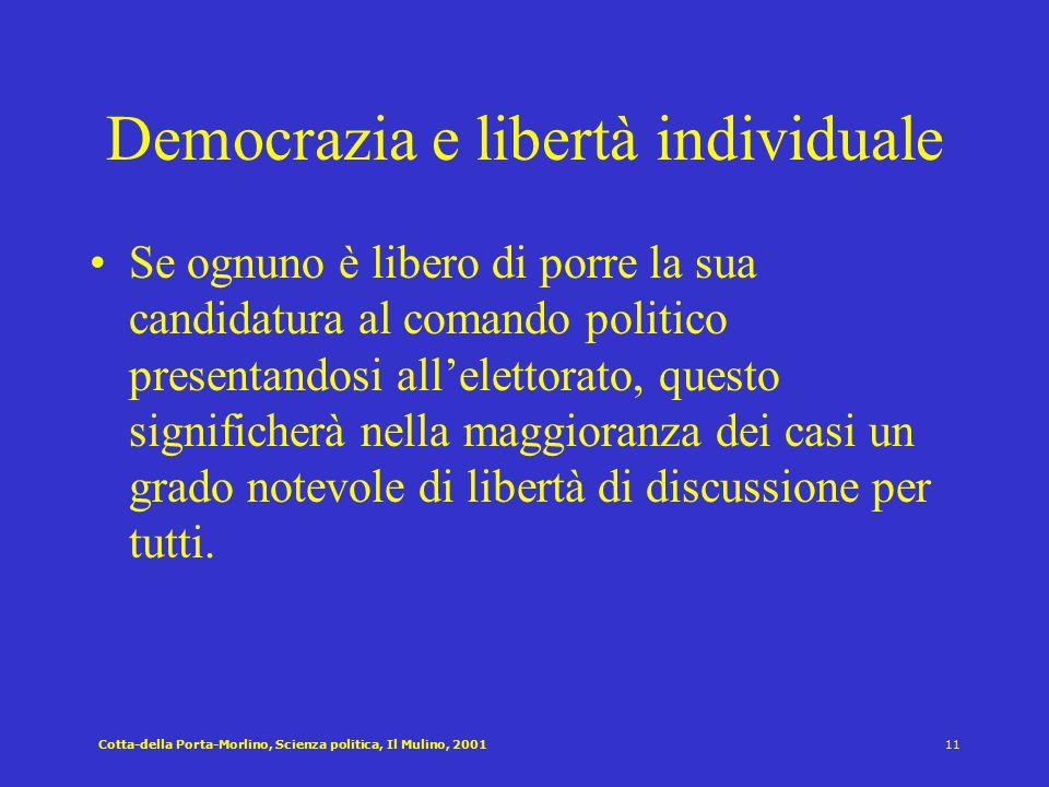 Democrazia e libertà individuale
