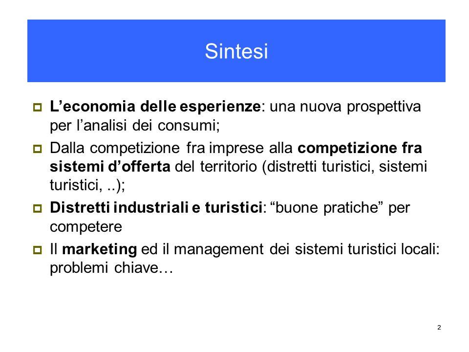 Sintesi L'economia delle esperienze: una nuova prospettiva per l'analisi dei consumi;