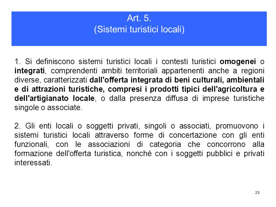 (Sistemi turistici locali)