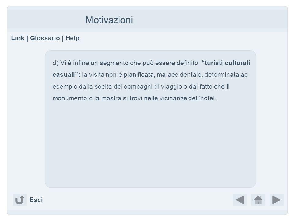 Motivazioni Link | Glossario | Help