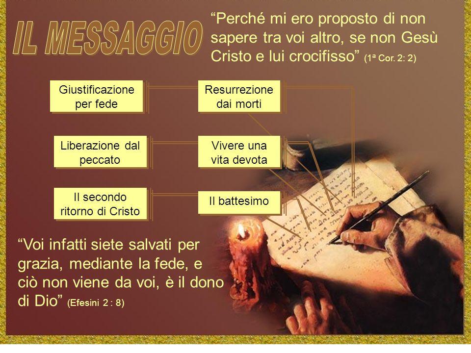 Perché mi ero proposto di non sapere tra voi altro, se non Gesù Cristo e lui crocifisso (1ª Cor. 2: 2)