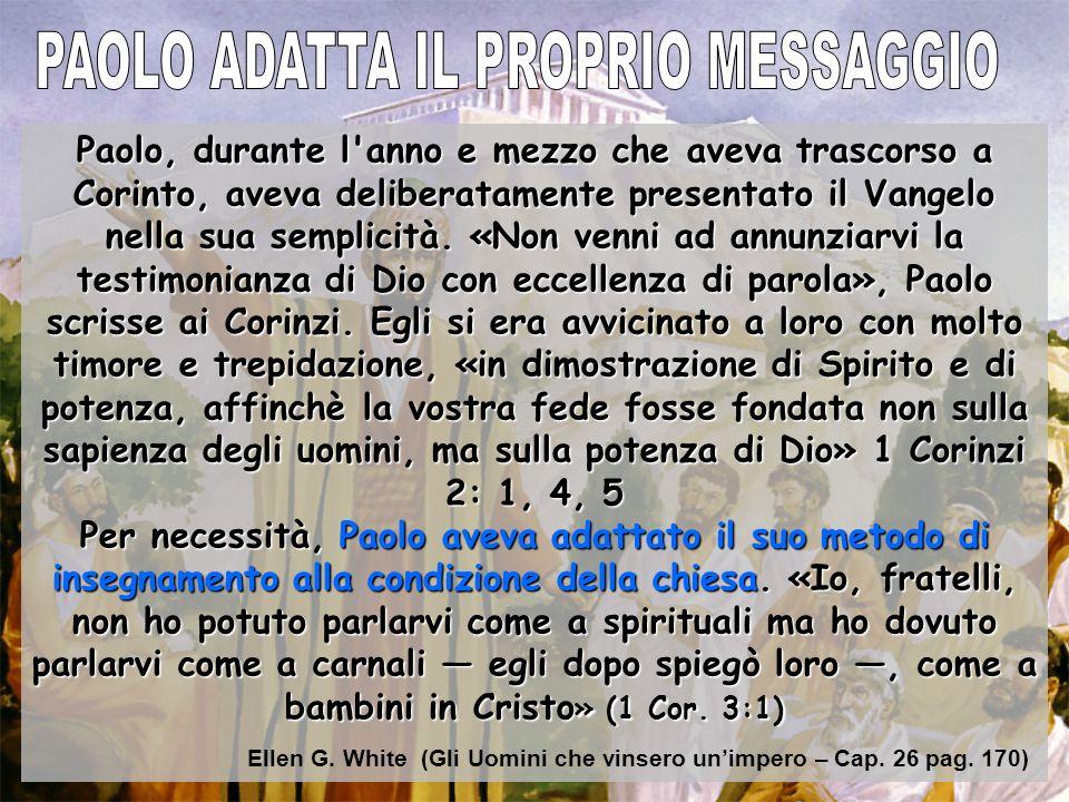PAOLO ADATTA IL PROPRIO MESSAGGIO