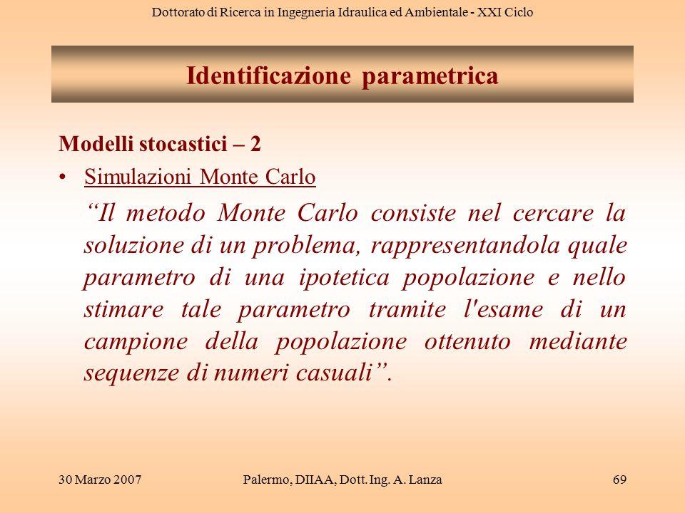 Identificazione parametrica