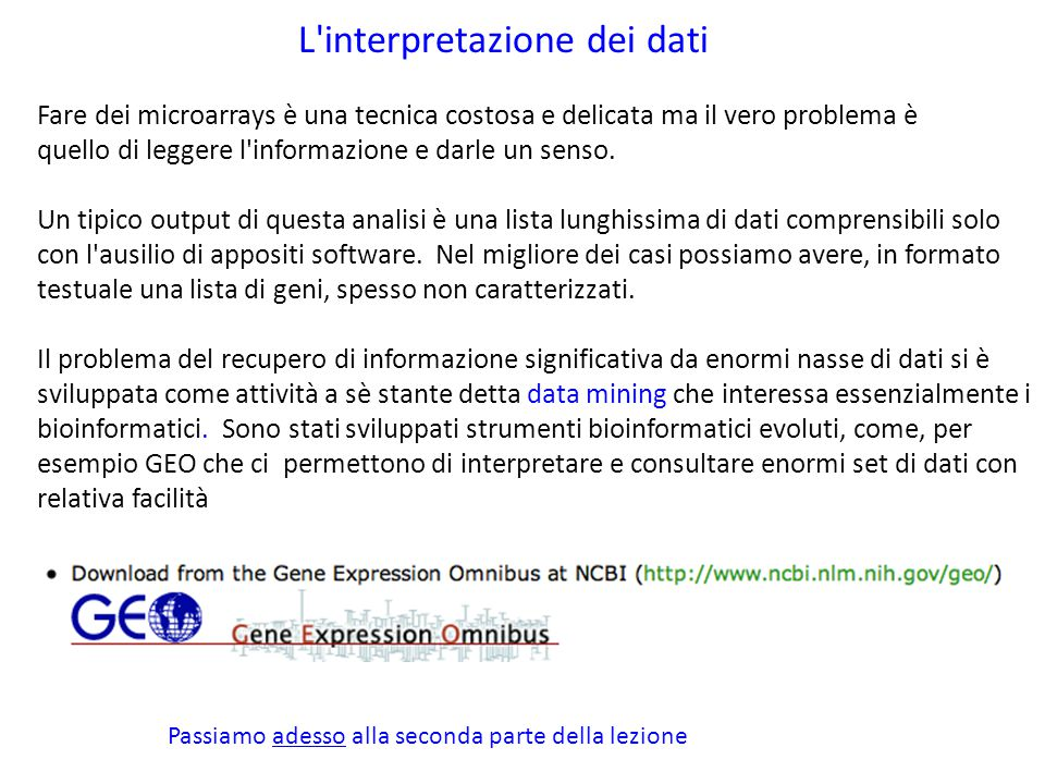 L interpretazione dei dati