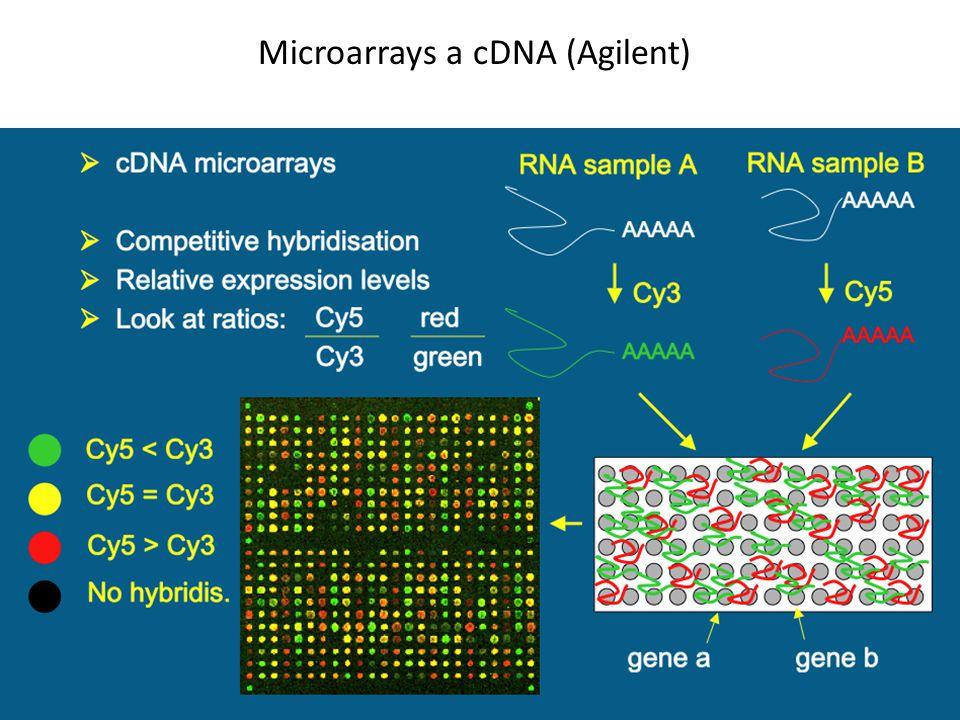 Microarrays a cDNA (Agilent)