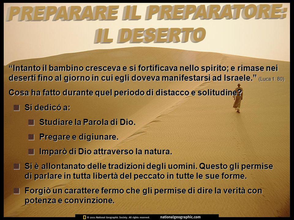 PREPARARE IL PREPARATORE: