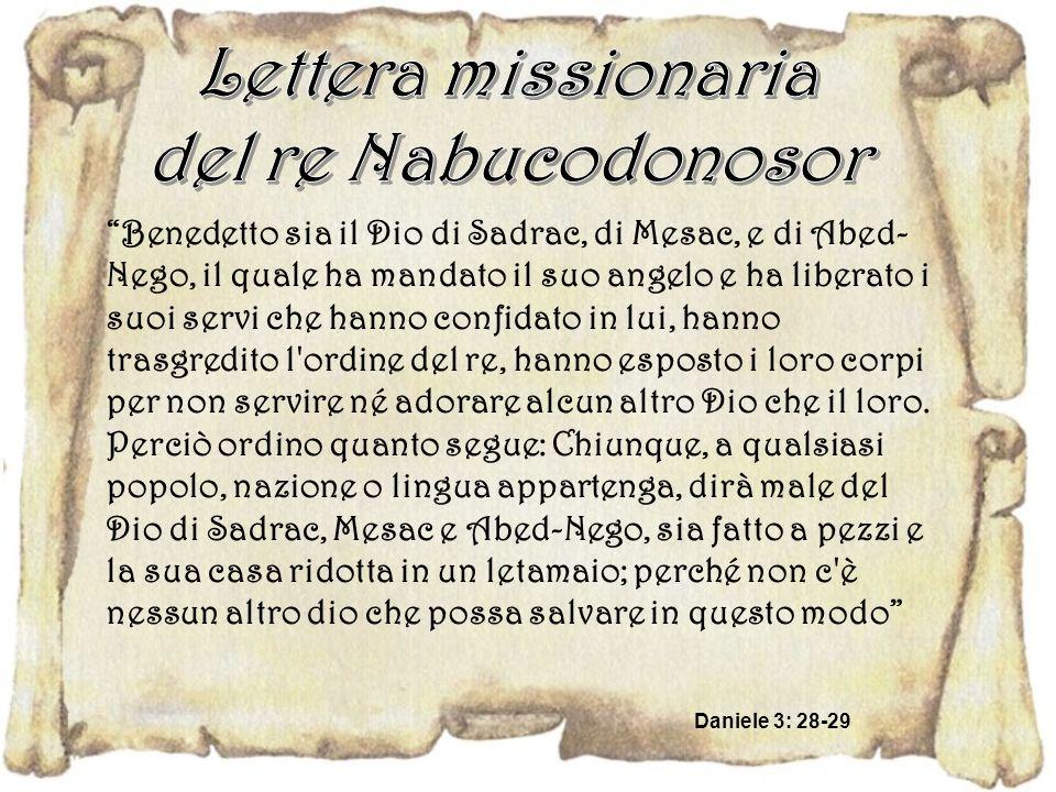Lettera missionaria del re Nabucodonosor
