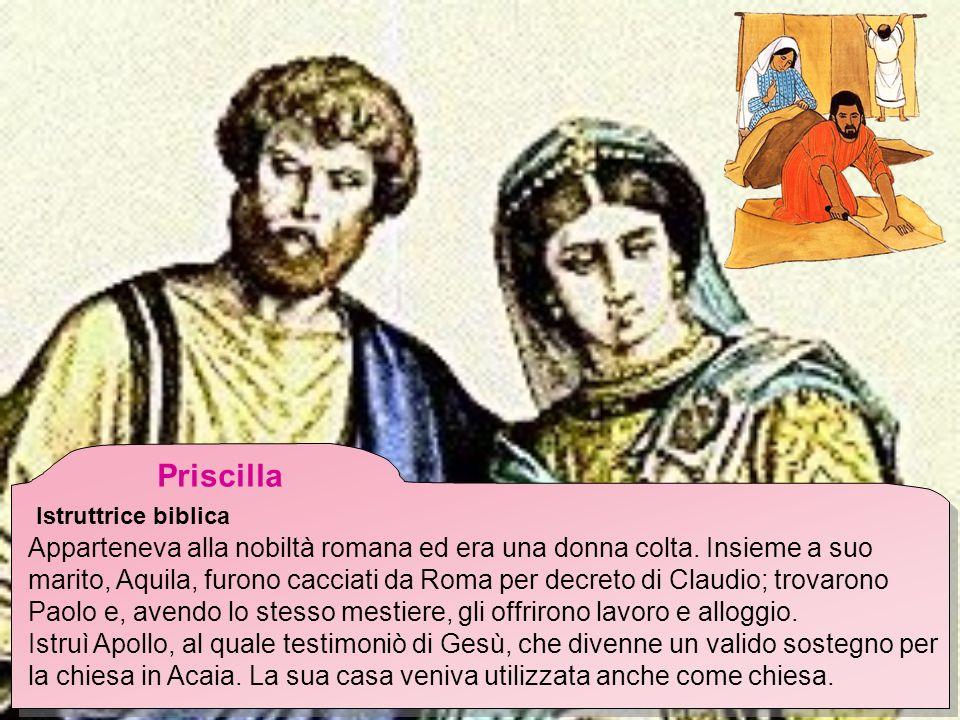 Priscilla Istruttrice biblica.