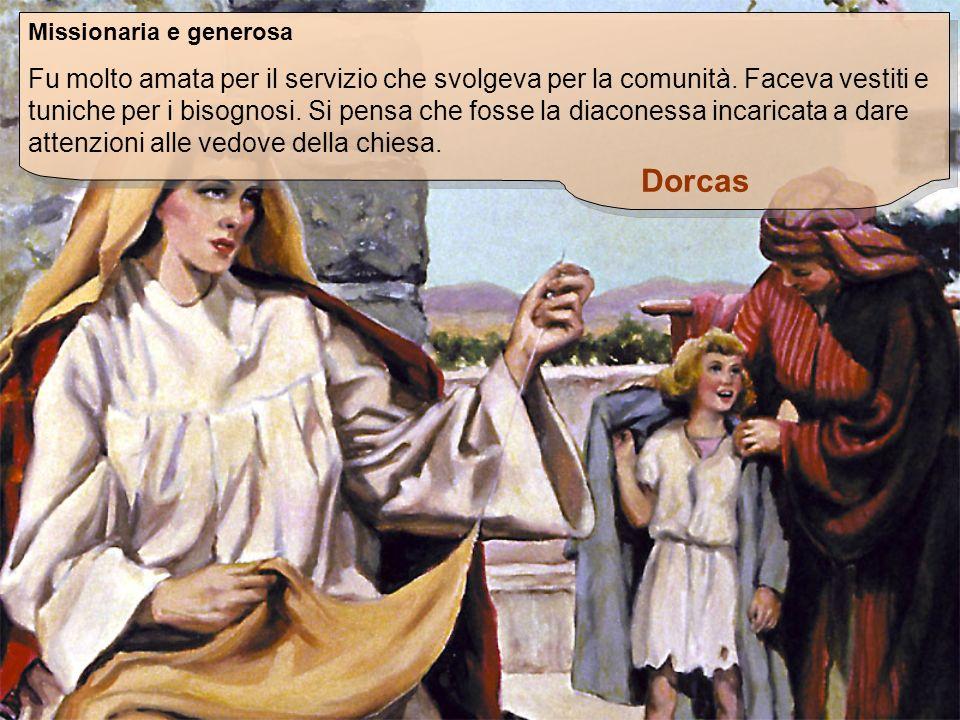 Missionaria e generosa