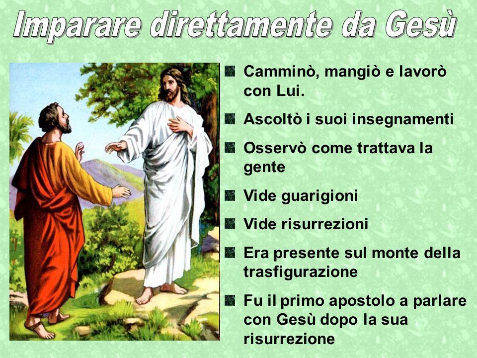Imparare direttamente da Gesù