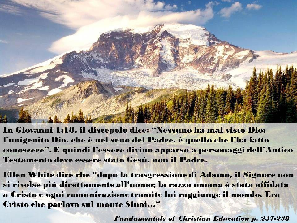 In Giovanni 1:18, il discepolo dice: Nessuno ha mai visto Dio; l'unigenito Dio, che è nel seno del Padre, è quello che l'ha fatto conoscere . E quindi l'essere divino apparso a personaggi dell'Antico Testamento deve essere stato Gesù, non il Padre.