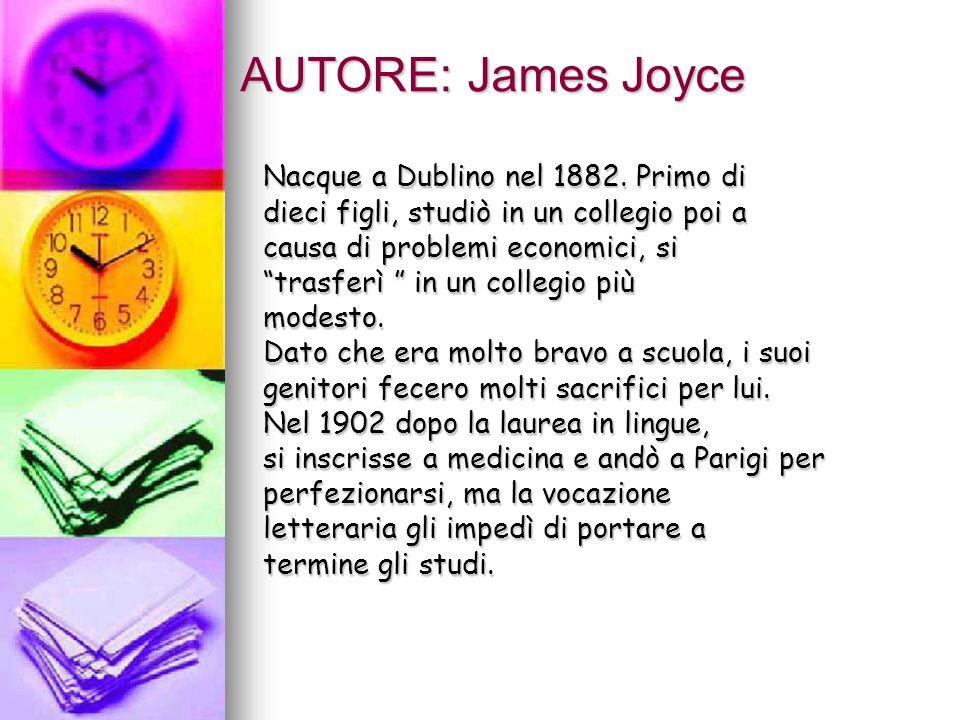 AUTORE: James Joyce Nacque a Dublino nel 1882. Primo di