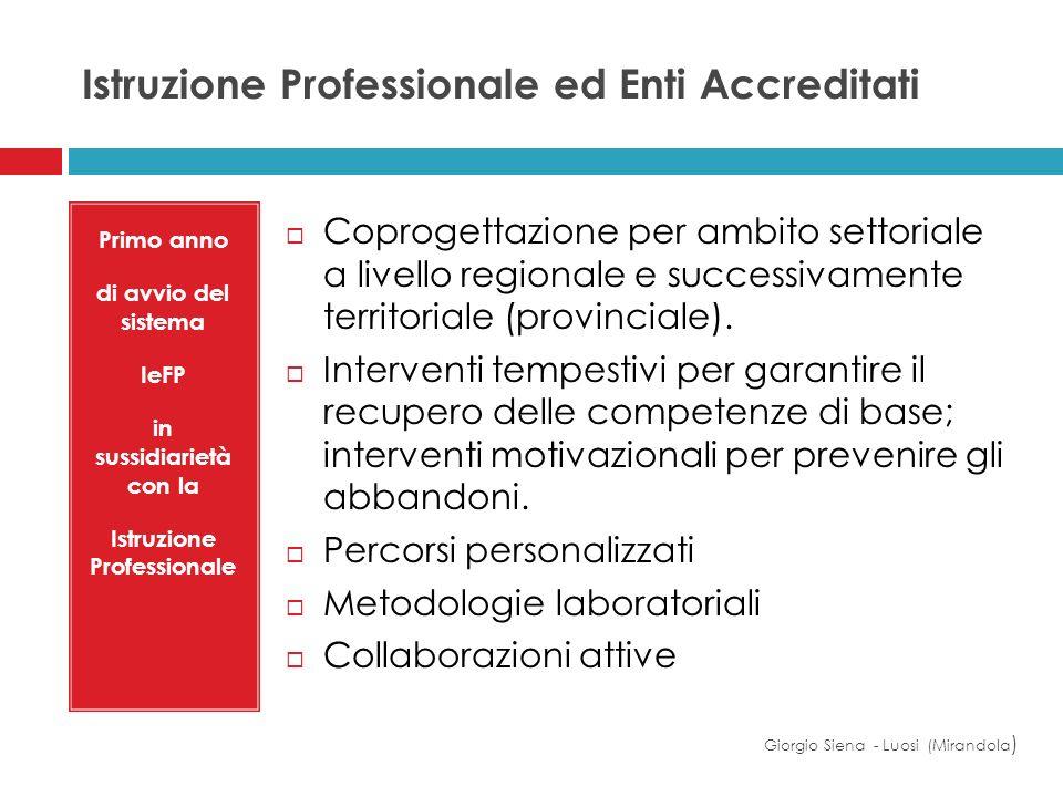 Istruzione Professionale ed Enti Accreditati