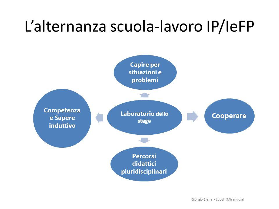L'alternanza scuola-lavoro IP/IeFP