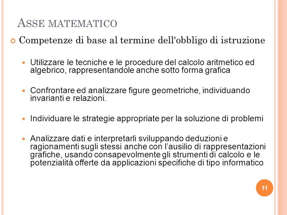 Asse dei linguaggiCompetenze di base al termine dell obbligo di istruzione. Padronanza della lingua italiana: