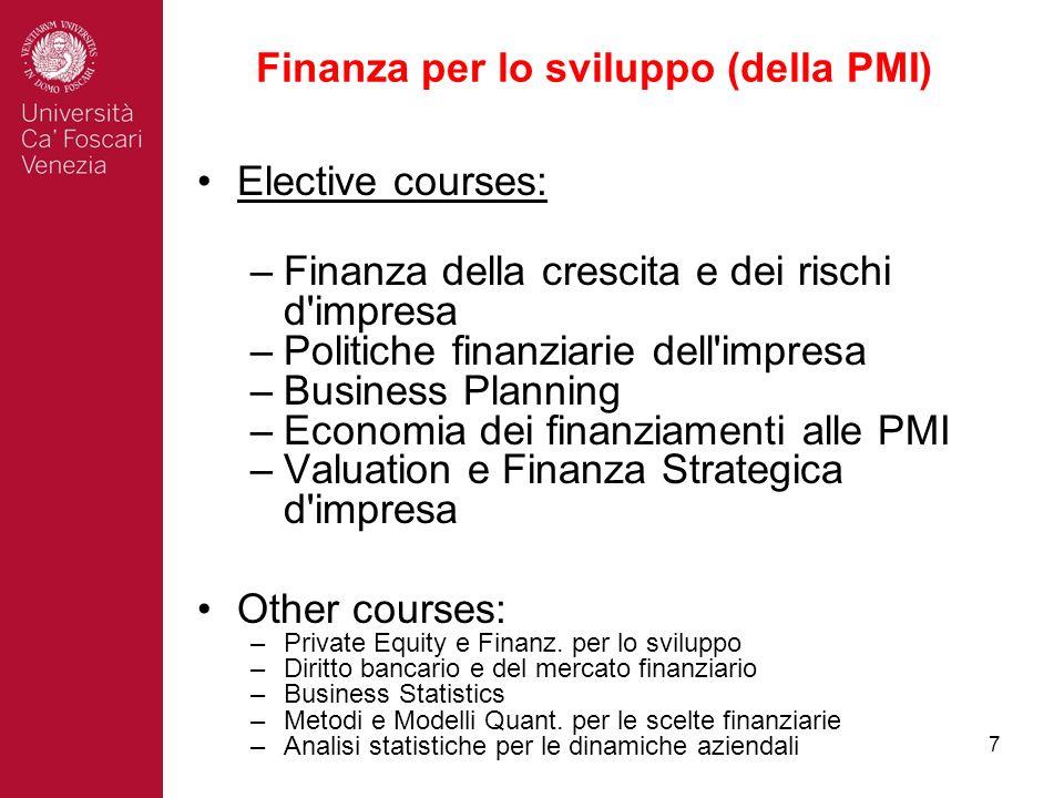Finanza per lo sviluppo (della PMI)