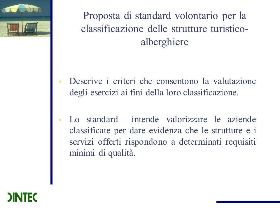 Proposta di standard volontario per la classificazione delle strutture turistico-alberghiere