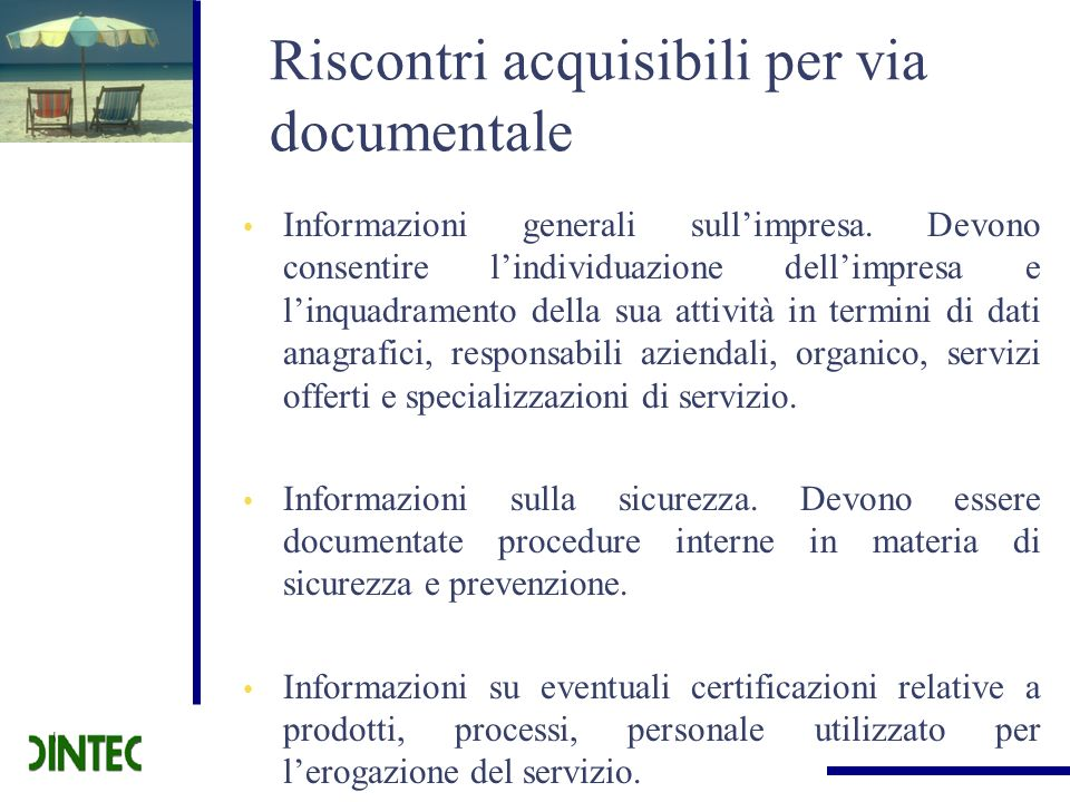 Riscontri acquisibili per via documentale