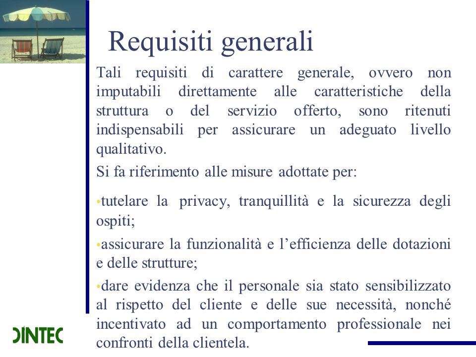 Requisiti generali
