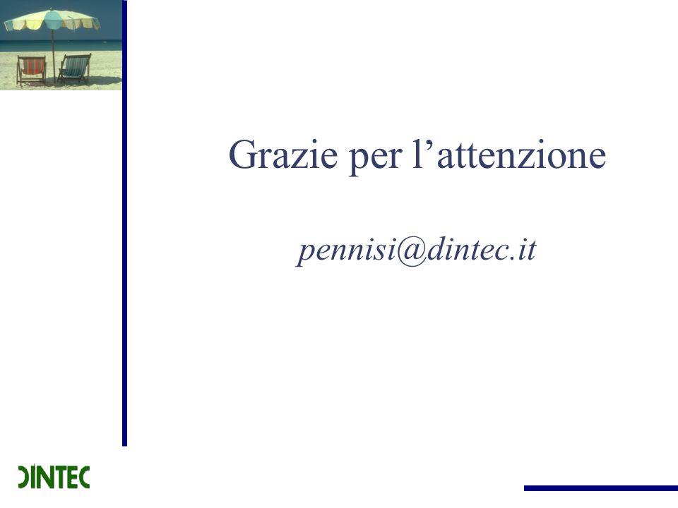 Grazie per l'attenzione pennisi@dintec.it