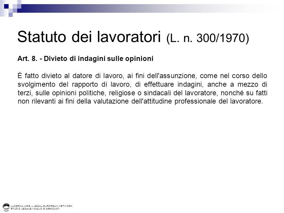 Statuto dei lavoratori (L. n. 300/1970)
