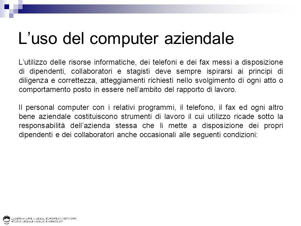 L'uso del computer aziendale