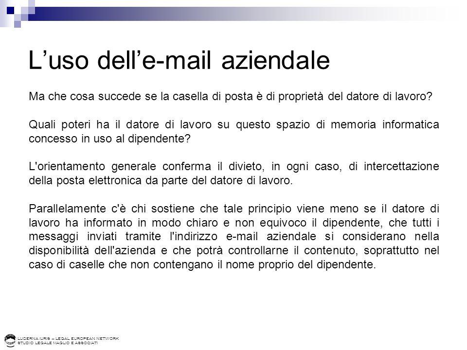 L'uso dell'e-mail aziendale