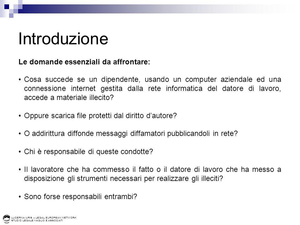 Introduzione Le domande essenziali da affrontare: