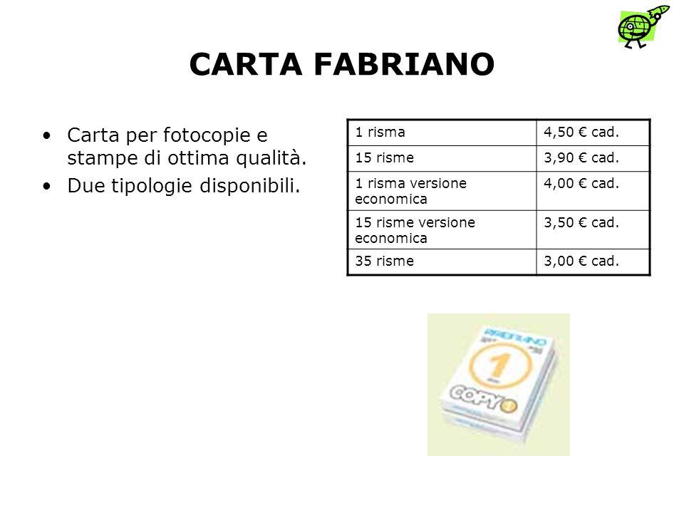 CARTA FABRIANO Carta per fotocopie e stampe di ottima qualità.