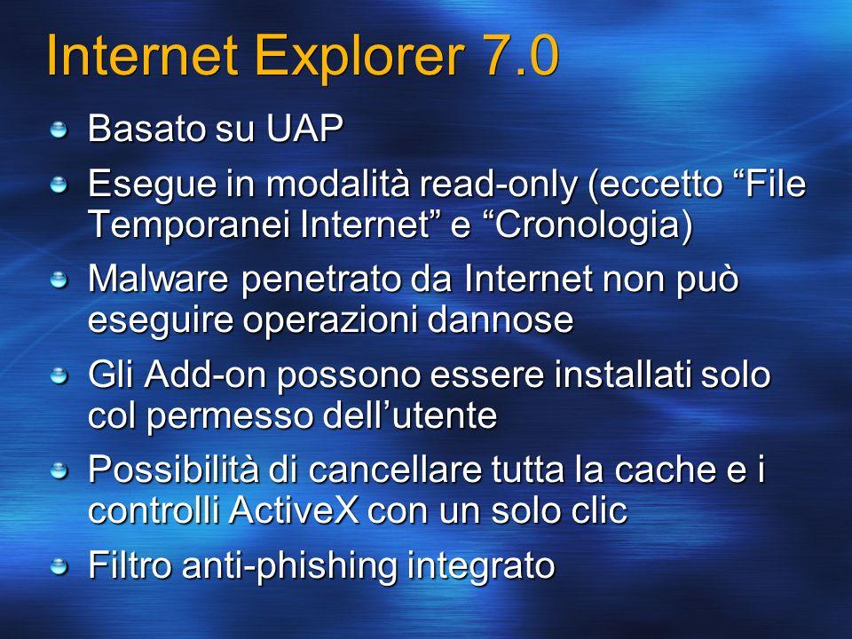 Internet Explorer 7.0 Basato su UAP