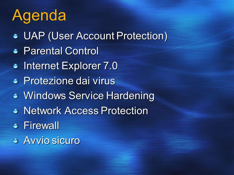 Agenda UAP (User Account Protection) Parental Control