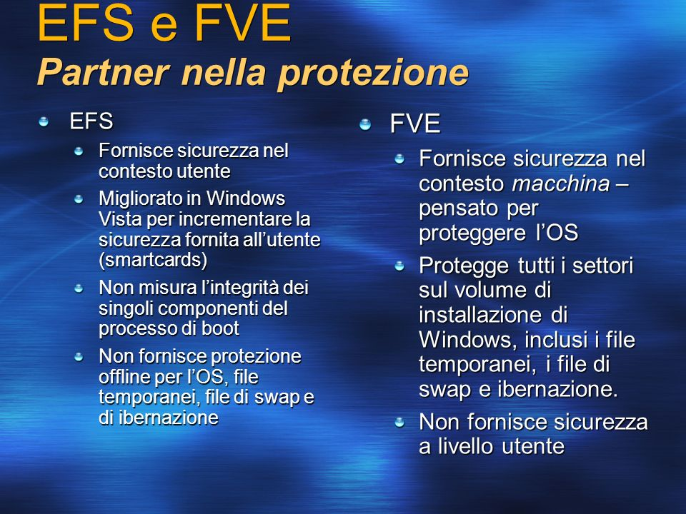 EFS e FVE Partner nella protezione