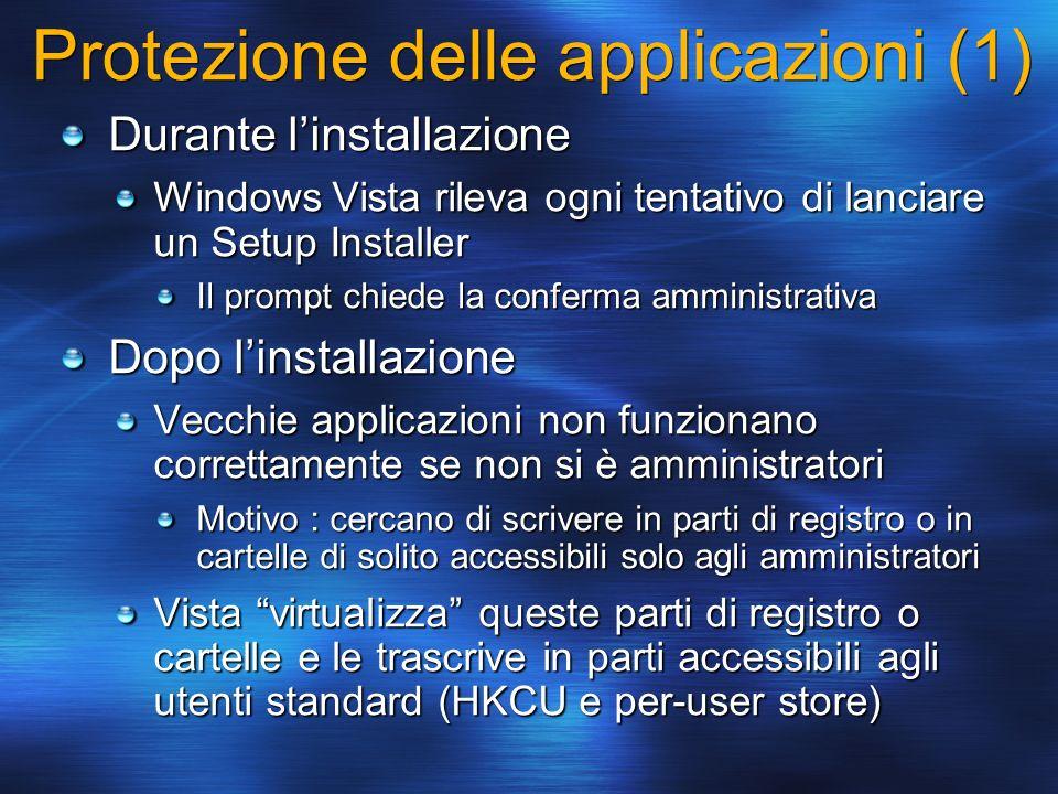 Protezione delle applicazioni (1)