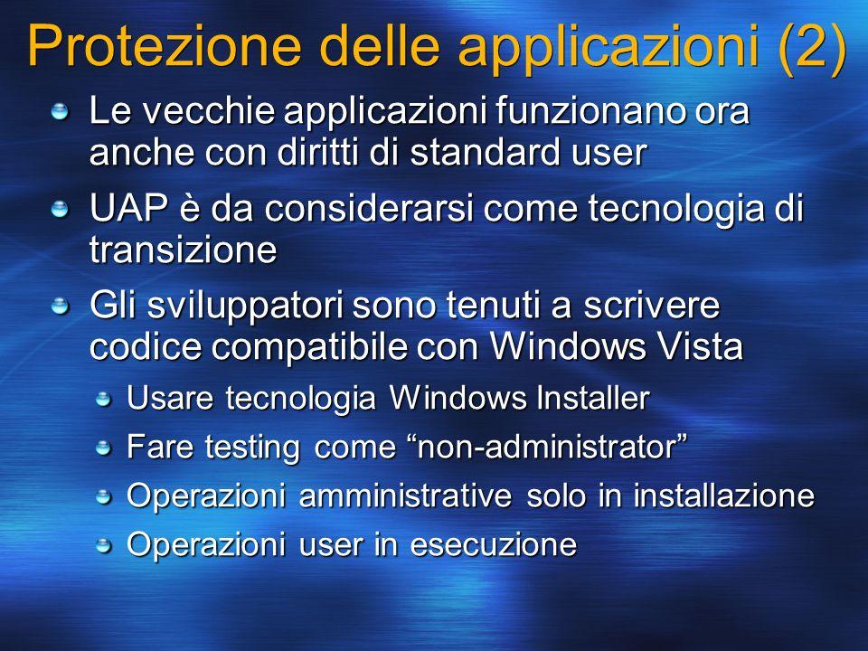 Protezione delle applicazioni (2)