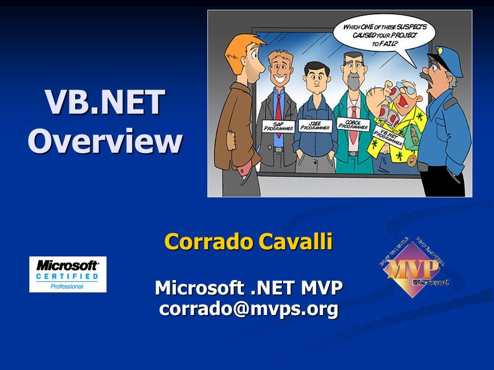 Corrado Cavalli Microsoft .NET MVP corrado@mvps.org