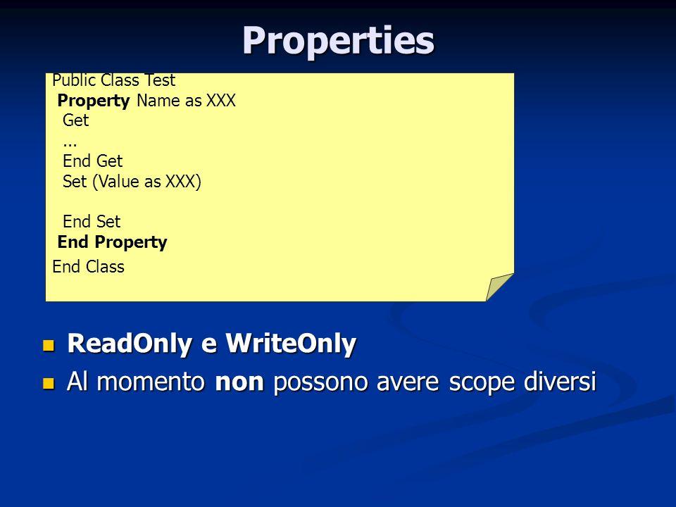 Properties ReadOnly e WriteOnly