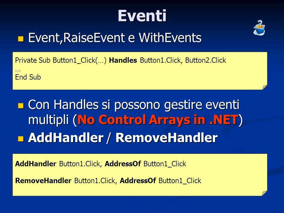 Eventi Event,RaiseEvent e WithEvents