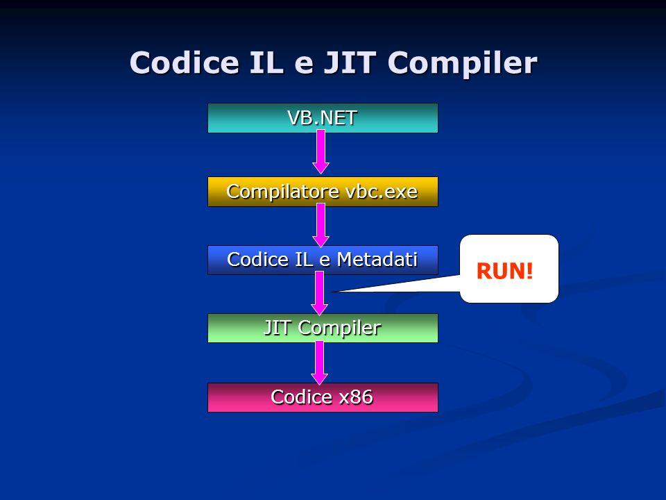 Codice IL e JIT Compiler