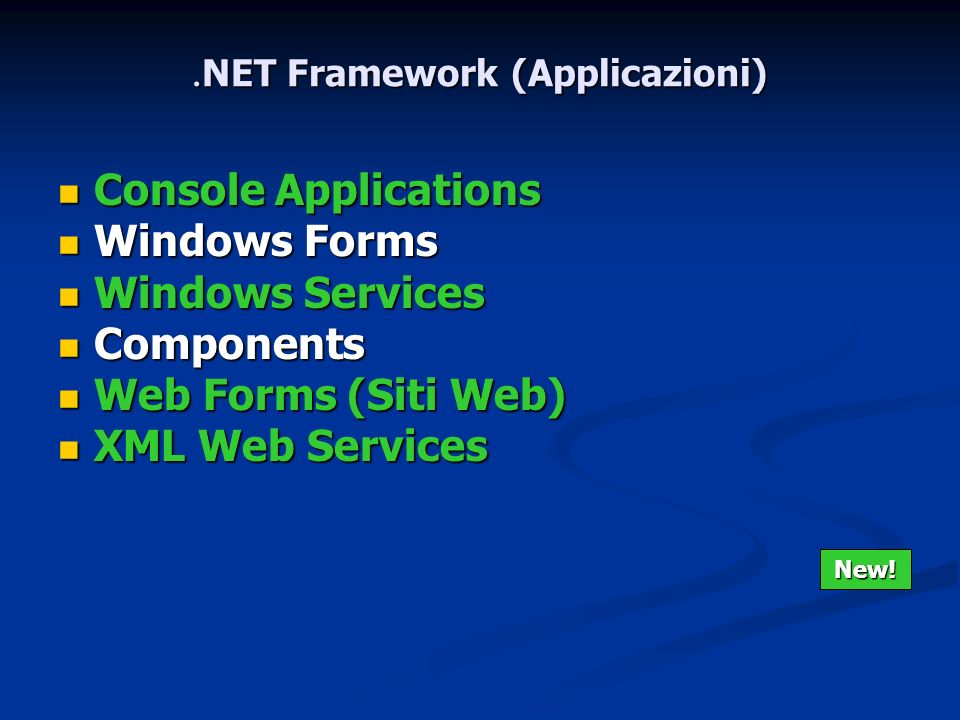 .NET Framework (Applicazioni)