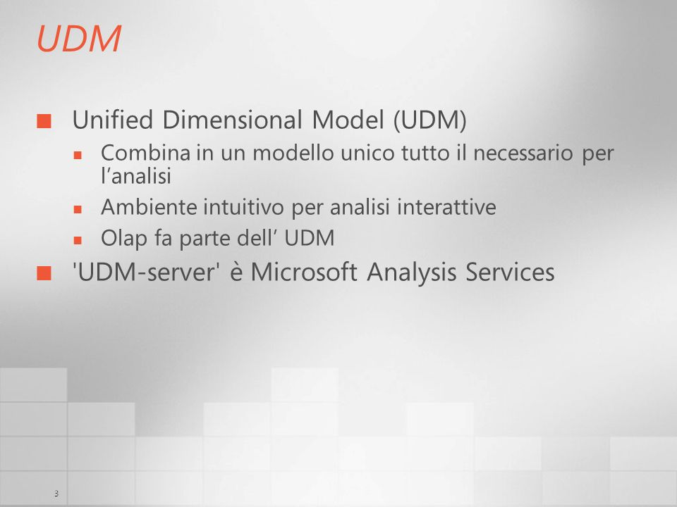 UDM Unified Dimensional Model (UDM)