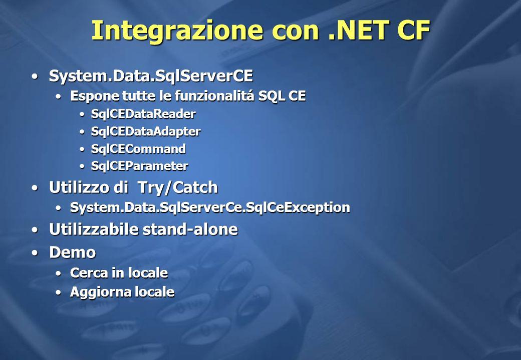 Integrazione con .NET CF