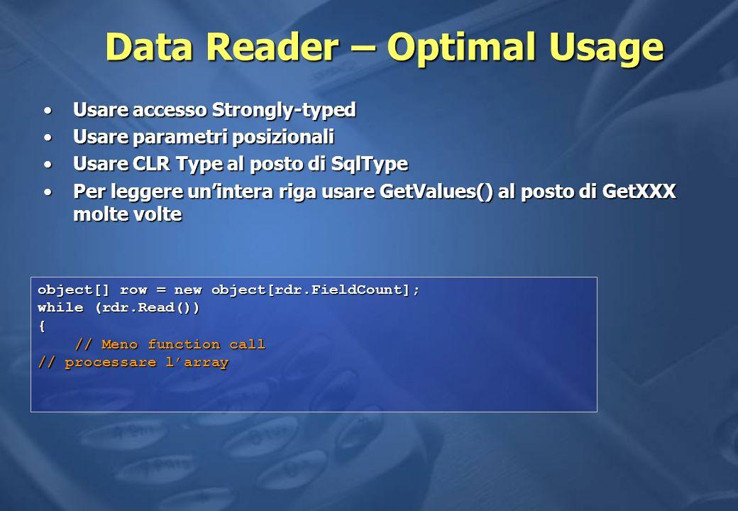 Data Reader – Optimal Usage