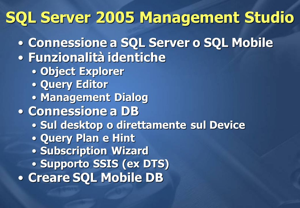 SQL Server 2005 Management Studio