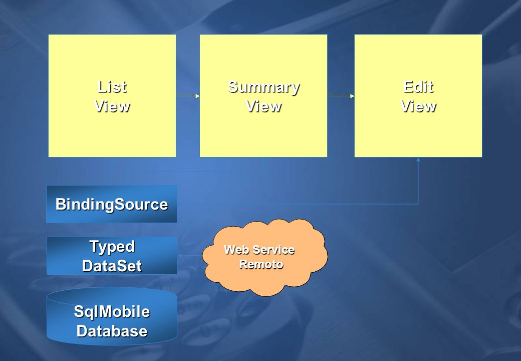 List View Summary View Edit View BindingSource Typed DataSet