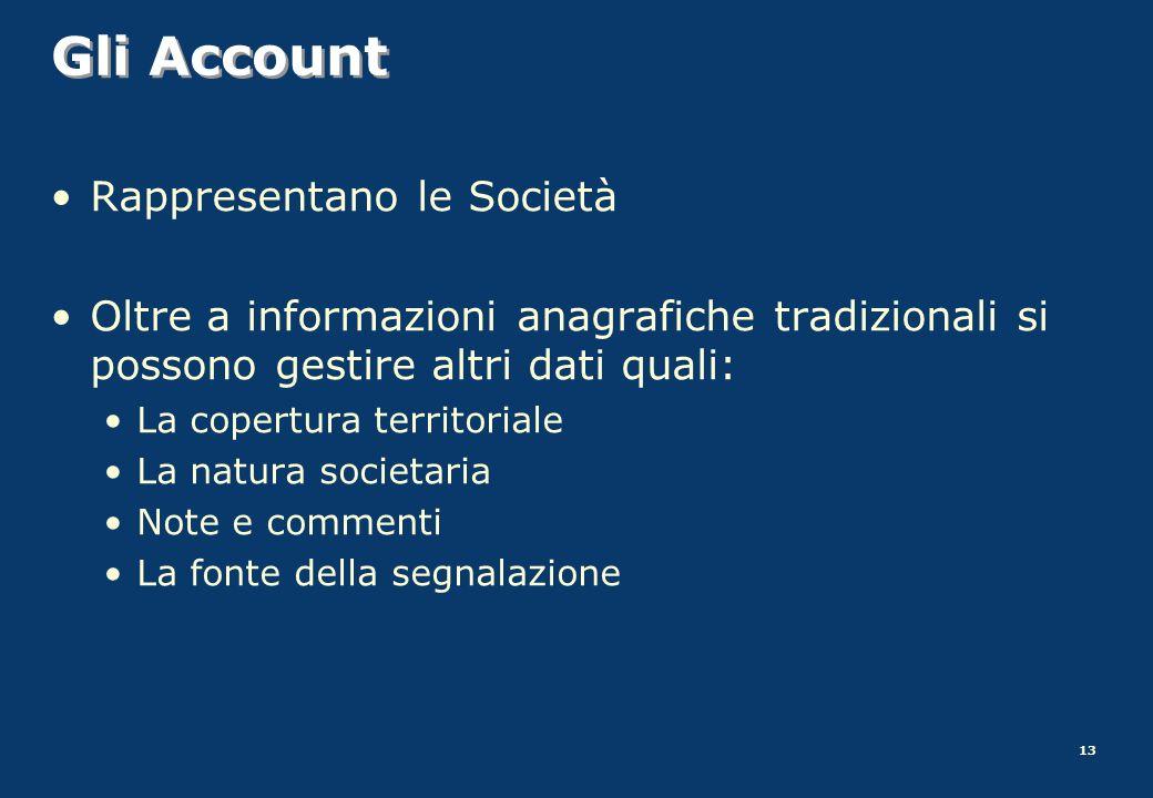 Gli Account Rappresentano le Società