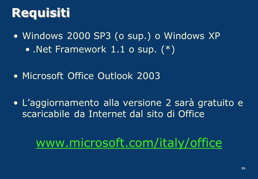 Requisiti www.microsoft.com/italy/office