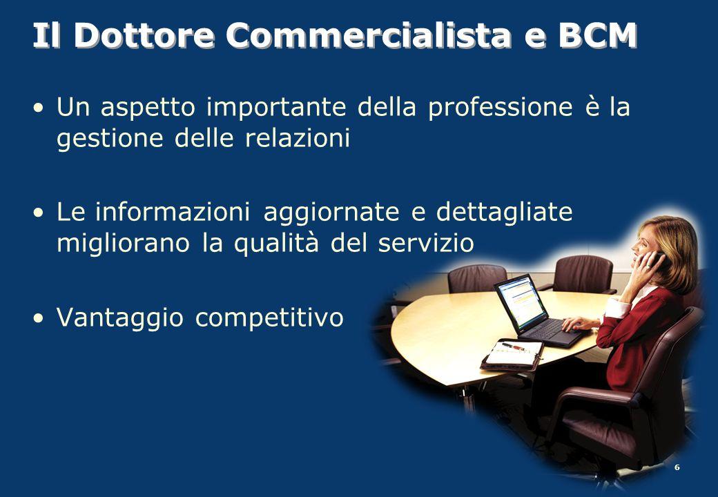 Il Dottore Commercialista e BCM