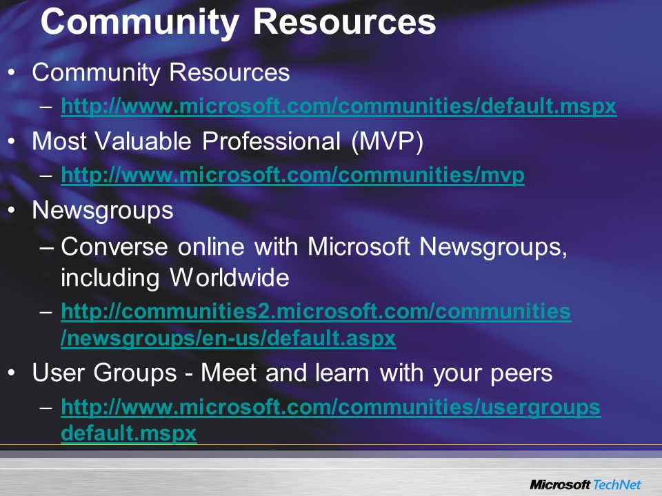 Community Resources Community Resources